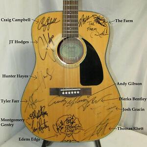 DETROIT HOEDOWN Signed Guitar Montgomery Gentry Dierks Bentley Thomas Rhett More