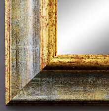 Spiegel Wandspiegel Badspiegel Flurspiegel Antik Barock Acta Grau Gold 6,7