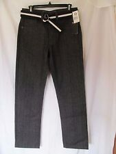 NWT Men's SOUTHPOLE REGULAR STRAIGHT W:29 L:30 JEANS with Belt, RAW BLACK