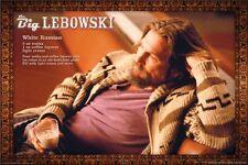 THE BIG LEBOWSKI MOVIE POSTER ~ DUDE WHITE RUSSIAN 24x36 Jeff Bridges