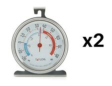 """Taylor Classic Series Freezer/Refrigerator Thermometer 3.25"""" Dial XL (2-Pack)"""