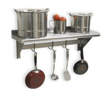 Advance Tabco Ps 12 36 36 Stainless Pot Rack Shelf With 6 Hooks
