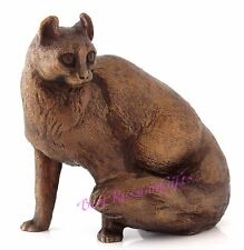 "American Curl Cat Bronze Statue Animal Figurine Russian Art Sculpture 4"" Height"