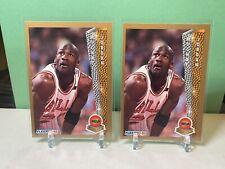 (2MICHAEL JORDAN 1992-93 Fleer NBA Award Winner Subset #246 Chicago Bulls NM MVP