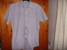 Cotton Blend Check Short Sleeve No Formal Shirts for Men