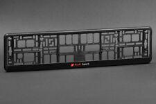 Audi 1x Aspect Carbone Support de Plaque D/'Immatriculation Cadre pour Tuning
