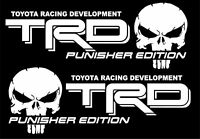 TRD PUNISHER EDITION Decals Toyota Tacoma Tundra Truck Vinyl Stickers Set White