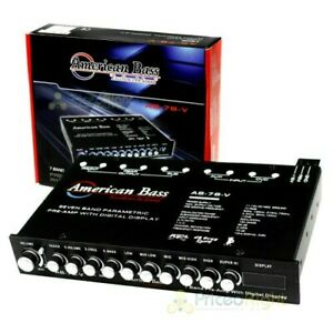 American Bass AB-7B-7 7 Band Equalizer Digital Volt Meter