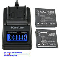 Kastar Battery LCD Quick Charger for Panasonic SDR-SW21D SDR-SW21G SDR-SW21S