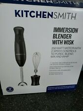 Kitchensmith 2 Speed Immersion Blender with Wisk Black