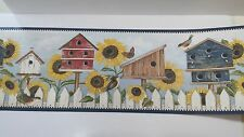 SUNFLOWER AND BIRDHOUSE 4 Rolls David Carter Brown Country Wallpaper Border