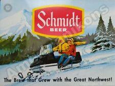 Schmidt Beer New Metal Sign: G. Heilman Brewing Company - Snowmobile Version