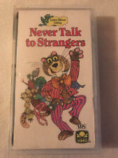 NEVER TALK TO STRANGERS LEARN ABOUT LIVING, GOLDEN BOOK VIDEO, VHS, HARD CASE