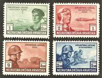 DR Nazi Croatia Rare WWII Stamp War in Russia Legion Panzer Soldier Attack War 2