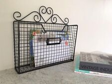 Heart Letter Post Rack Magazine Storage Vintage Industrial Style Wire Basket