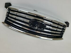 Fits NEW Infiniti JX35 2013 QX60 14 15 Front Upper Grille Finished w/ MOULDING