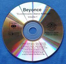 Beyonce Sweet Dreams Dance Remixes Volume 1 CD Promo 8 Versions Smash Mode
