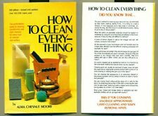 How to clean everything: An encyclopedia of what t