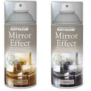 Transform Clear Glass into Mirror Gold Silver Gloss Mirror Effect Spray Paint