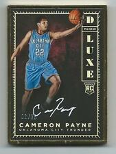 2015-16 Panini LUXE BKB #DLX-CPY Cameron Payne DLUXE GOLD FRAMED AUTO RC #6/25