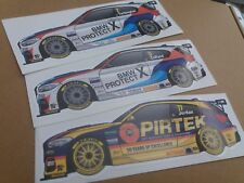 Equipo BMW Racing BTCC 2018 Sticker Conjunto de 3 Turkington verduras Jordan WSR