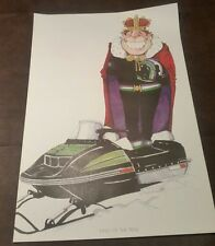 """vintage 1973 Arctic Cat Panther Snowmobile Poster """"King of the trail"""""""