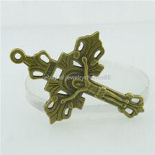 15788 10PCS Alloy Bronze Faith Religions Chirstian Cross Inri Pendant Charm