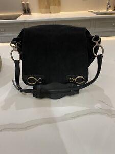 Balenciaga Vintage Black Suede Bag Silver Hardware