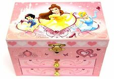 Disney Princess Musical Jewellery Box with Drawers - NEW Cinderella Belle Snow