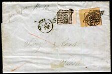 ITALIEN ALT KIRCHENSTAAT 1852 4+6 ARCONA nach TRIEST dabei BOGENECKE(D7244