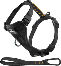 Kurgo Dog Harness | Pet Walking Harness | Car Harness for Dogs | medium black