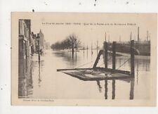 La Crue de Janvier 1910 Paris Quai de la Rapee France Vintage Postcard 880a