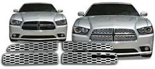 Chrome Grille Overlays for 2011 2012 2013 2014 Dodge Charger (SE / R/T / SXT)