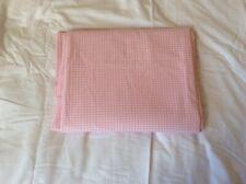 Pottery Barn Kids Pink Gingham Twin Flat Sheet New