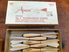 Apex Official No. 1 Tournament Darts, Box of 5 White, New Old Stock