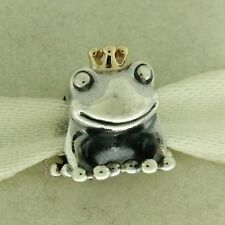 Authentic Pandora 791118 Frog Prince 14K Gold & Sterling Silver Bead Charm