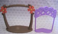 Littlest Pet Shop Habitat Display Replacement Pieces Flower-Tree/Winner's Stand