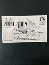 The Frizzell Stagecoach Antique Postcard
