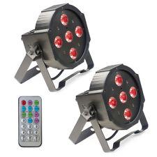 2 x Stagg SLI ECOPAR 2 80W RGBW LED Par Can Spot Light Uplighter Wash + Remote