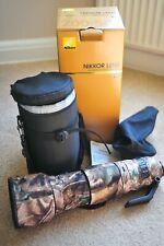 Nikon Nikkor AF 200-500mm F/5.6 VR ED AF-S Lens incl Case - Only Slightly Used