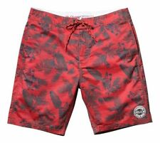 "ELEMENT RED TROPICAL THUNDER 19"" BOARD SHORTS MENS SIZE 38 NEW WITH TAGS"