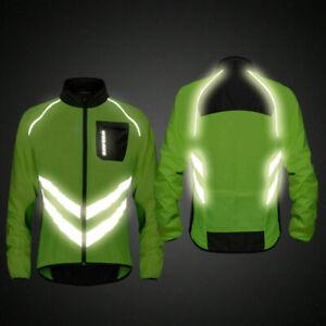 High visibility Cycling Men's Windbreaker Cycling Jacket Mountain Bike Clothing