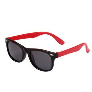 Kids Unisex Sunglasses  UV400 Polarised Sunglasses UNBREAKABLE BLACK-RED