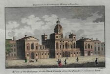 BUILDINGS FOR THE HORFE GUARDS  - H-Colored Copper Engraving - Collyer - 1790