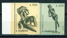 San Marino Arts Sculptures Europa SEPT set 1974 MNH