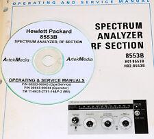 HP 8553B Spectrum Analyzer Operating & Service Manual (3 volumes)