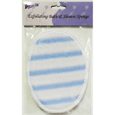 Bath and Shower Exfoliating Body Scrub Sponge / Terry Gauze Pad.  High Quality.