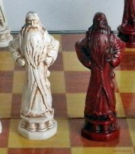 HARRY POTTER CHESS MEN - SET WITH DUMBLEDORE AND WIZARD SCHOOL (rosewood) 618
