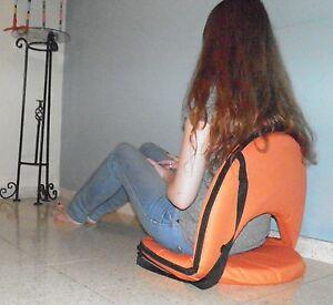 Orange chair fold Meditation Vipassana stadium bleacher yoga lower back support