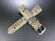 22mm Genuine PYTHON Skin Leather Strap White Band Tang Buckle PAM